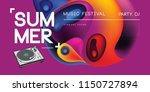 electronic music fest summer... | Shutterstock .eps vector #1150727894
