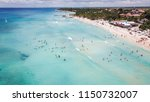 beautiful beach at a resort in... | Shutterstock . vector #1150732007