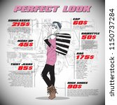 fashion infographic with model... | Shutterstock .eps vector #1150737284