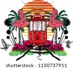 istanbul tram graphic design... | Shutterstock .eps vector #1150737911