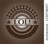 lol  wood icon or emblem | Shutterstock .eps vector #1150738457