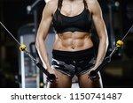 beautiful brunette sexy...   Shutterstock . vector #1150741487
