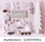 christmas decoration  flat lay  ... | Shutterstock . vector #1150744931