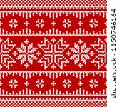 winter sweater fairisle design. ... | Shutterstock .eps vector #1150746164