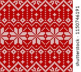 winter sweater fairisle design. ... | Shutterstock .eps vector #1150746191