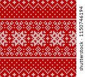 winter sweater fairisle design. ... | Shutterstock .eps vector #1150746194