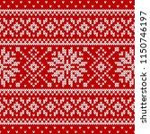 winter sweater fairisle design. ... | Shutterstock .eps vector #1150746197