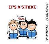 cartoon vector caucasian men on ...   Shutterstock .eps vector #1150753421