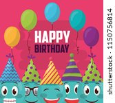 happy birthday card | Shutterstock .eps vector #1150756814