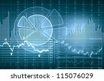 business graph with arrow... | Shutterstock . vector #115076029