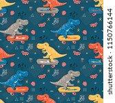 seamless pattern for kids... | Shutterstock .eps vector #1150766144