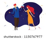 young passionate couple... | Shutterstock .eps vector #1150767977