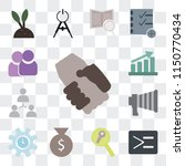 set of 13 simple editable icons ... | Shutterstock .eps vector #1150770434