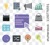 set of 13 simple editable icons ... | Shutterstock .eps vector #1150770551