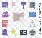 set of 13 simple editable icons ... | Shutterstock .eps vector #1150773764