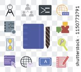 set of 13 simple editable icons ... | Shutterstock .eps vector #1150773791