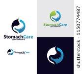 stomach logo design | Shutterstock .eps vector #1150774487