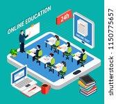 online distant education... | Shutterstock .eps vector #1150775657