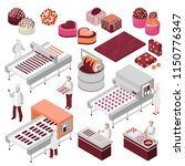 chocolate manufacture isometric ... | Shutterstock .eps vector #1150776347
