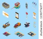 parking lots facilities... | Shutterstock .eps vector #1150776377