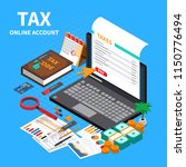 tax statement on web isometric... | Shutterstock .eps vector #1150776494