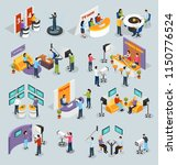 isometric quiz tv show icons... | Shutterstock .eps vector #1150776524