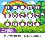 a math number worksheet... | Shutterstock .eps vector #1150780817
