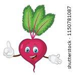 cute beet character cartoon  | Shutterstock .eps vector #1150781087