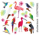 tropical birds vector... | Shutterstock .eps vector #1150790381