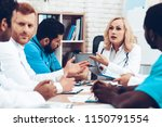 doctors meeting. diagnostic... | Shutterstock . vector #1150791554