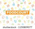 food court banner texture with... | Shutterstock .eps vector #1150809077