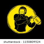 american football player action ... | Shutterstock .eps vector #1150809524