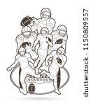 group of american football... | Shutterstock .eps vector #1150809557