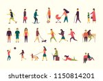 flat illustration of people... | Shutterstock .eps vector #1150814201