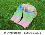 colorful pink  green  blue ... | Shutterstock . vector #1150821371
