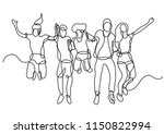 continuous line drawing of... | Shutterstock .eps vector #1150822994