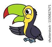 cartoon goofy toucan | Shutterstock .eps vector #1150827671