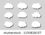 vector set of realistic... | Shutterstock .eps vector #1150828157