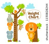 kids height chart. celebrate...   Shutterstock .eps vector #1150828244