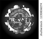 private grey camo emblem   Shutterstock .eps vector #1150836074