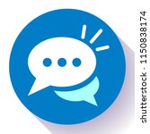 live chat icon with dialog...