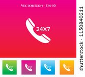 24x7 call icon in colored... | Shutterstock .eps vector #1150840211