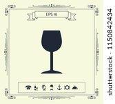 wineglass icon symbol | Shutterstock .eps vector #1150842434