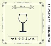 wineglass symbol icon | Shutterstock .eps vector #1150842491