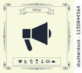 speaker  bullhorn icon | Shutterstock .eps vector #1150844564