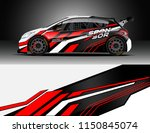 rally and drift car wrap design ... | Shutterstock .eps vector #1150845074