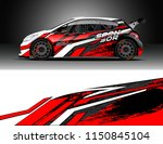 rally and drift car wrap design ... | Shutterstock .eps vector #1150845104