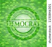 democrat green emblem with... | Shutterstock .eps vector #1150846301