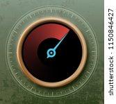 round speedometer with an arrow.... | Shutterstock .eps vector #1150846427