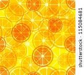 citrus seamless pattern. vector ... | Shutterstock .eps vector #115084681